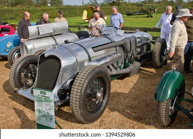 OLD WARDEN, BEDFORDSHIRE, UK – OCTOBER 5, 2014: 1933 Napier-Railton racing car, on static display at Old Warden, prior to the start of the Shuttleworth Airshow.