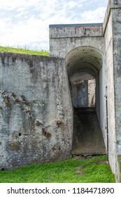 Old wartime bunker. Fort Lytton, Brisbane, Queensland, Australia.