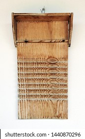 Old washboard by hand that was formerly used in homes