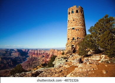 Old Watch Tower at Grand Canyon National Park, Arizona, USA