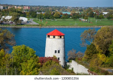 Old watch tower on Fort Henry site in Kingston, Ontario