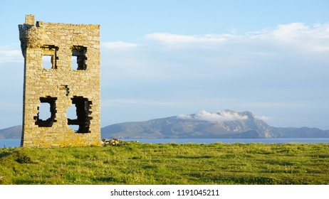 An old watchtower on the Mullet peninsula ,County Mayo