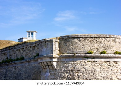 Old watchtower and Wall of the Fortifications of Vauban, France