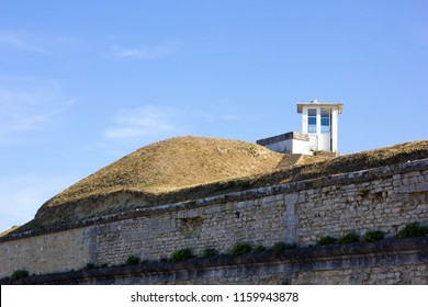 Old watchtower and Wall of the Fortress of Vauban, France
