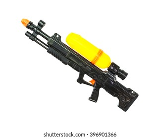Old water gun isolate on white background. Clipping path.