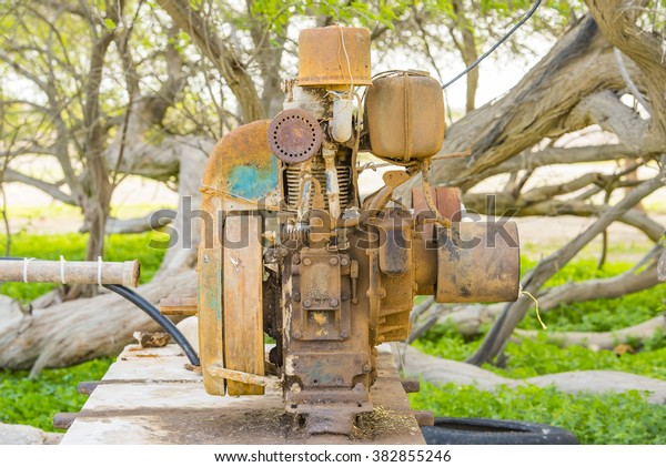 Old Water Pump Oasis Near Doha Stock Photo (Edit Now) 382855246