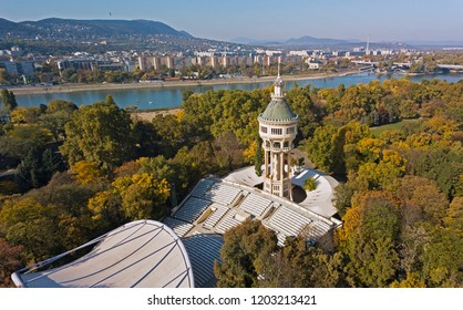 The old water tower in the Margaret Island (Margitsziget) in the middle of Budapest, Hungary
