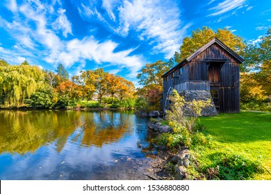 Old Watermill in Midway Village of Rockford Town, Illinois