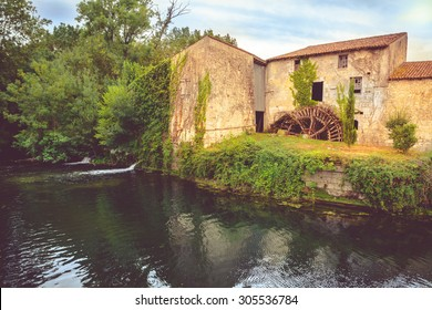 Old Watermill in Saint  Jean d Angely, on the Boutonne river, Charente Maritime, France