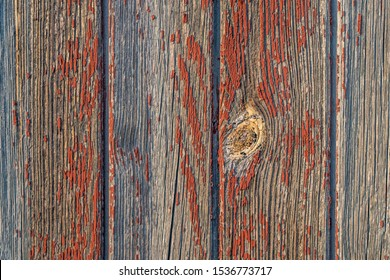 Old and weathered boards with paint residues