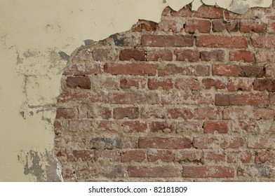 Old weathered brick wall texture