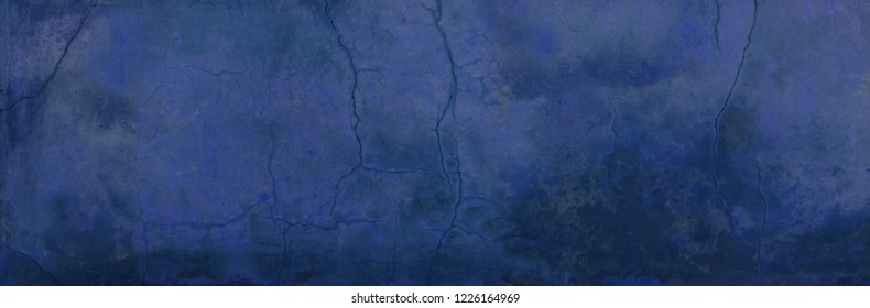old weathered cracked fissured blue background wall texture