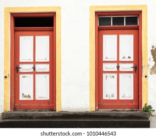 Old weathered frontdoors