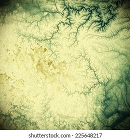 Old and weathered grunge texture. With different color patterns: green, gray, yellow