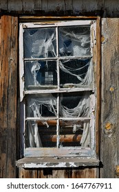 Old Weathered House Window Frame