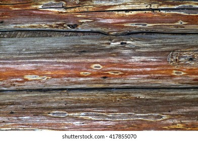 Old and weathered multi-colored wood background.