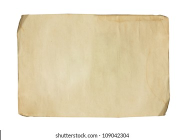 Old weathered paper sheet