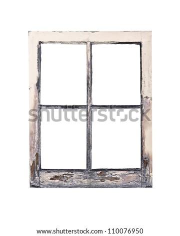 Old Weathered Rustic Window Frame Peeling Stock Photo (Edit Now ...