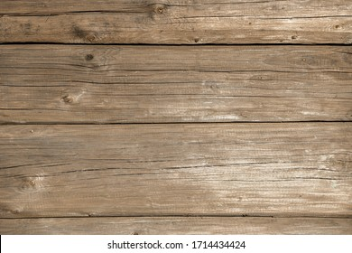 Old weathered wood surface. wooden background texture of wall of log rural house with copy space for your design. Blank template.