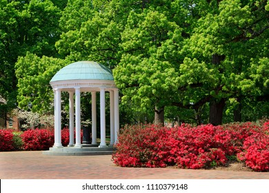 The Old Well at UNC Chapel Hill in the spring