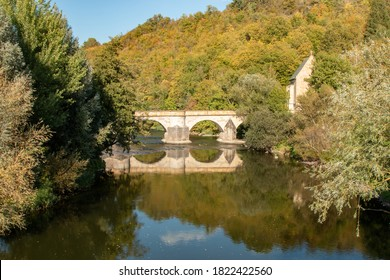 Old Werra Bridge near Creuzburg in Thuringia, Germany
