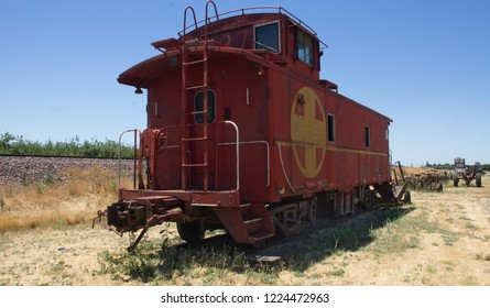 Old West: Old caboose near Mariposa, Ca