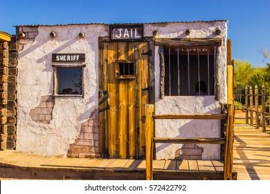 Old West Jail in Arizona Desert