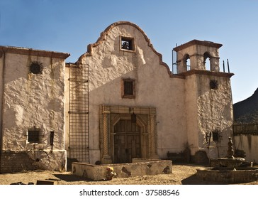 Old Western Church - Old Movie mock up of the Alamo outside of Tucson, Arizona.