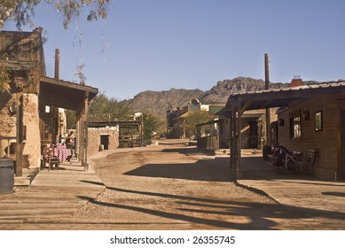 Old Western street outside of Tucson, Arizona.