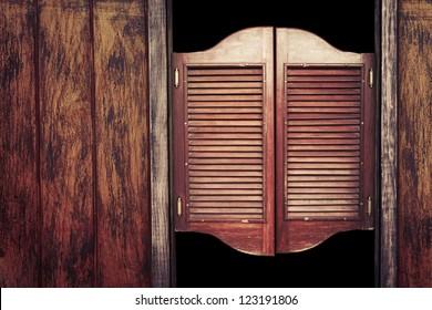 Old western swinging Saloon doors & Western Saloon Images Stock Photos u0026 Vectors | Shutterstock