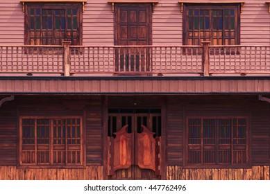 Old western swinging Saloon doors