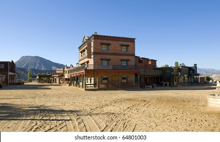 Old Western Town Film Set at Mini Hollywood Spain