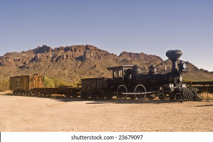 Old Western train outside Tucson, Arizona