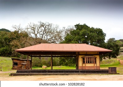 Old Western Train Station