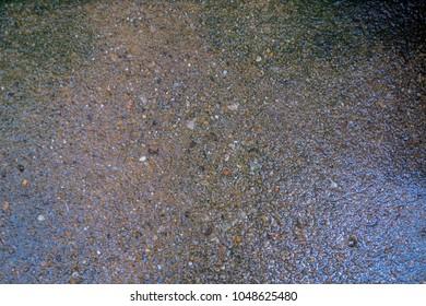 Old wet floor