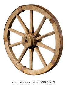 Old wheel images stock photos vectors shutterstock old wheel from a cart on a white background publicscrutiny Choice Image