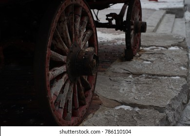Old wheel made of wood