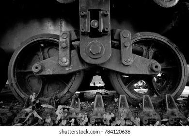old wheel tank
