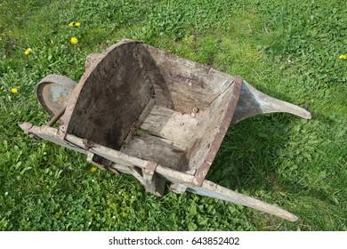Old wheelbarrows