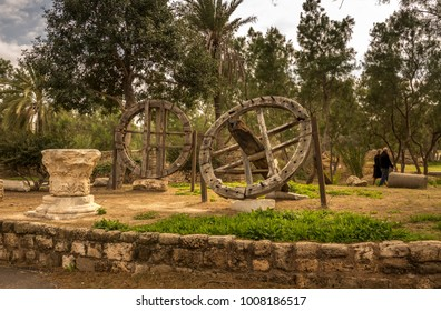 Old wheels. The day off in the city park. Ashkelon, Israel.