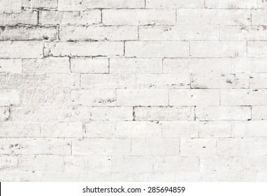 old white brick wall background