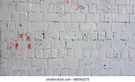 old white brick wall for grunge desing