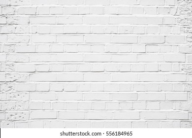 Old White Brick Wall with Large Bricks Textured Background in London, England