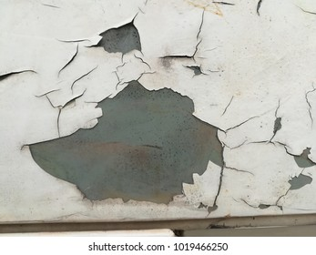 old white car with crack texture.Broken surface of old  car white grunge background. Abstract  texture. Vintage white  background with cracks and patches of black. white black  grunge background