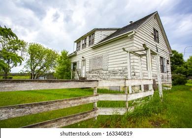 An old white farm house