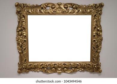 Old white framed canvas