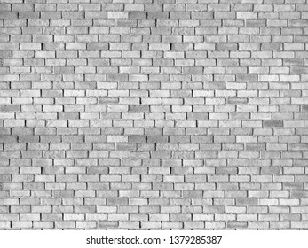 Old White grunge brick wall for texture or background.