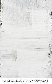 Old white grunge painted texture.