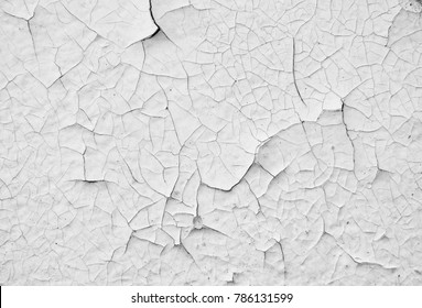 old white paint wall with crack texture