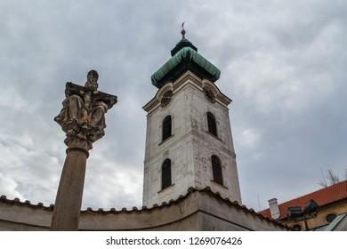Old White Tower in Ceske Budejovice (Budweis), Czech Republic